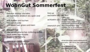 Flyer Sommerfest 2014